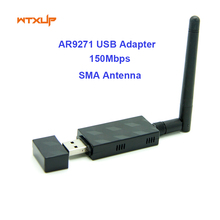Atheros AR9271 150Mbps wifi MINI Wireless USB WLAN Adapter Dongle with 2DBi WiFi Antenna Network Card For ROS/Win 7/8/10 Linux