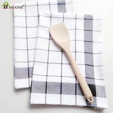 HAKOONA 3 pieces/set  Linen Yarn Dyed Plaid Table Napkin  Bakery Background Kitchen Towel Home Furnishings Tea Towels 50*70cm