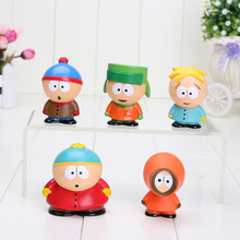 5pcs/set 5cm South Park Mini PVC Action Figure Toys Dolls New in opp bag Free Shipping(China)