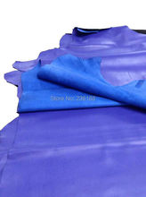 Factory supply Genuine Blue Sheep Skin Leather Handbag Fabric,0.9-1.1mm ,Free Shipping(China)