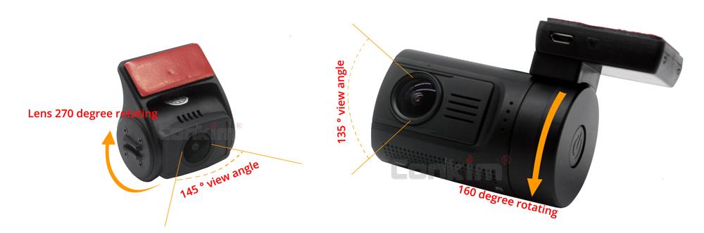 Conkim Mini 0906 Two Camera GPS Car DVR Registrar 1080P Full HD Rear View Camera Capacitor Dual Lens DVR Parking Guard Sensor 20