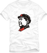 Chairman Mao tee shirt Mao Zedong head portrait tshirt Chinese great leader t shirt short sleeve t-shirt(China)