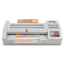 Professional Level Adjustable Temperature Metal Laminator Hot and Cold A3 Photo A4 Laminating Machine for Office/Home 4 Rollers(China)