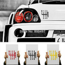 Creative Innovative 6-step Shift Sport Style in Car Decal for Toyota Ford Chevrolet Volkswagen Tesla Honda Hyundai Kia Lada
