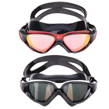 Unisex HD Anti-fog Goggle Large Swimming Glasses Plain Glass Goggle Plating Swimming Goggle