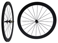 WS-CW05 : 3K Carbon Matt Cycling Road Bike Clincher Wheelset 50mm 700C Bicycle Wheel Rim Basalt Brake Side