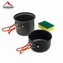 Widesea camping tableware outdoor cooking set camping cookware travel tableware pincin set hiking cooking utensils cutlery(China)