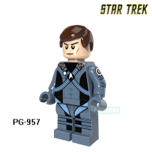 Building Blocks Star Trek Enterprise Spock Scotty Figures Super Heroes Wars Action Bricks Kids DIY Toys Hobbies PG957 - SZ-My paradise store