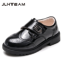 Kids Boys Leather Shoes for Soft Leather Shoes Black White Color Children's Chaussure 2017 New Fashion Kids School Shoes Boys(China)