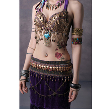 4 Colors Tribal Style Belly Dance Costume 2 Pics Bra&skirt 34b/c 36b/c 38b/c Xl/bra D Cup(China)