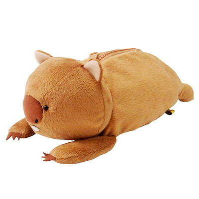 Creative Plush toy 1pc 23cm funny bear zero case little stationery students pencil bag stuffed toy gift for baby(China (Mainland))