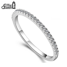 Effie Queen New Arrival Eternity Finger Ring with Austrian Cubic Zircon Fashion Jewelry Ring DR21