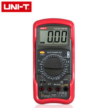 UNIT Digital Multimeter 1000V 20A DMM AC DC Voltmeter Resistance Diode Temperature test UT55 Palmsize Max Holster free shipping(China)