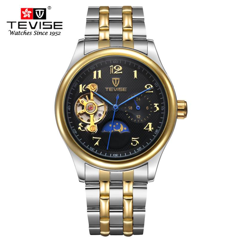 Mens Watches Top Brand Luxury TEVISE Clock Sports Tourbillon Automatic Mechanical watch for men Wristwatch relogio masculino<br>