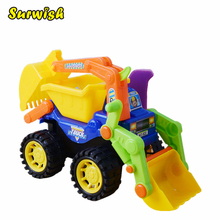 Surwish Kids Children Simulation Engineering Vehicles Excavator Inertia Car Boys Toy Real Dump Truck(China)