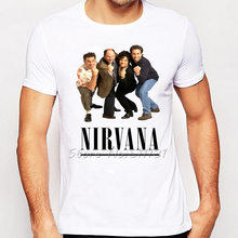 New Arrival Fashion Rock Band SEINFELD NIRVANA  Design Printed T-Shirt Men/Boy Punk Rock T Shirt Mens Hipster Cool Tee Tops