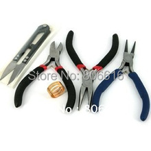 Jewelry Making Pliers DIY Beading Tools Set (Scissor/Diagonal/Flat/Roll Plier/Jump Ring Tool)(China)