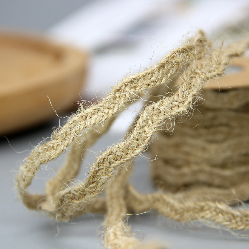 6mm*5M Natural Jute Twine Burlap String Hemp Rope Party Wedding Gift Wrapping Cords Thread DIY Scrapbooking Florists Craft Decor 5