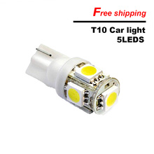 20PCS T10 led bulb 5/9/13 SMD 5050 DC12V LED T10 Motorcycle Car Light Source lamp dash indicator signal side wedge tail light