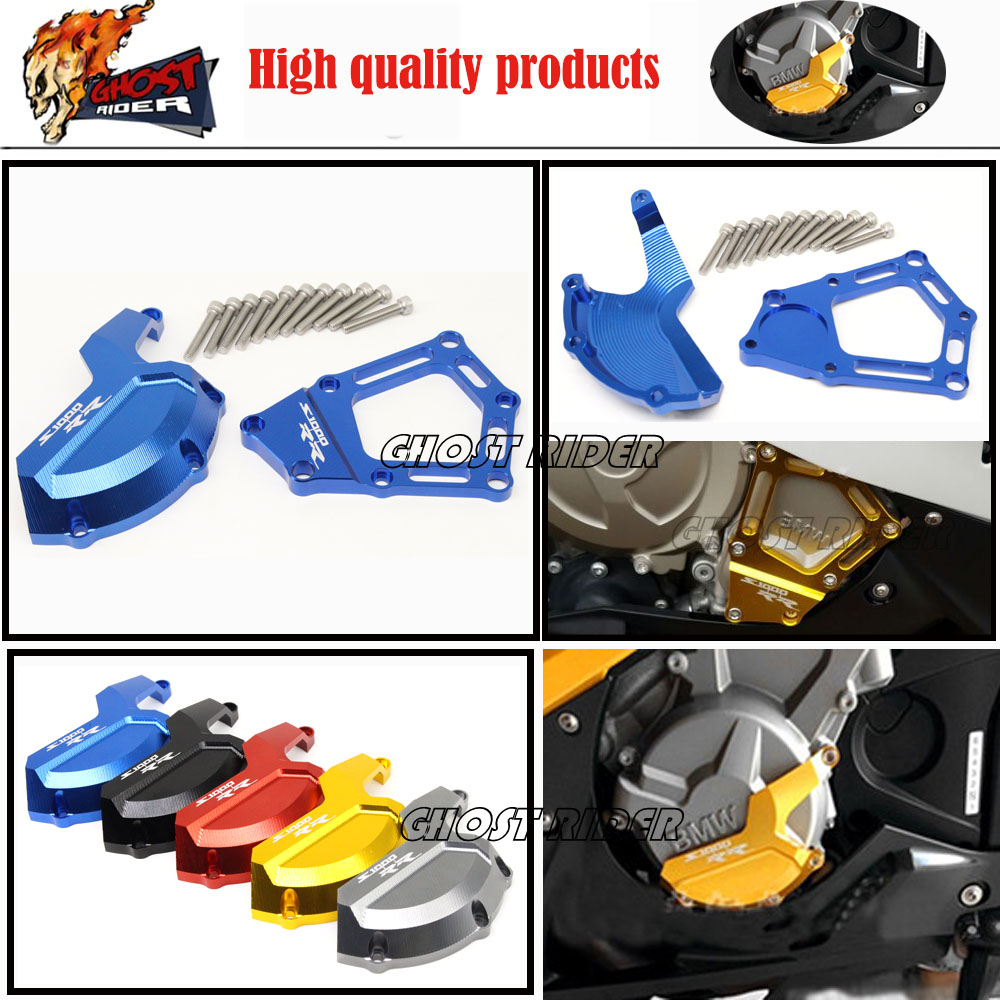 New Style fits for BMW S1000RR S1000R HP4 K42 K46 2009-2015 Motorcycle CNC Aluminum Engine Stator Cover Case Slider Protector Se<br>