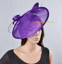 NEW 17 colours Purple big Sinamay fascinator hat for kentucky derby ,wedding party,races.