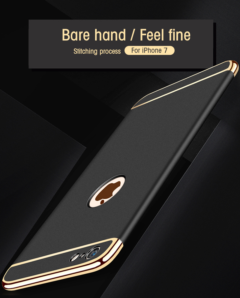 3 in 1 Luxury Hard PC Case For iPhone 6s 6 s 7 8 Plus X 5 5s SE Phone Back Cover For iPhone X 8 7 6 6s Plus 5S SE 10 Case Shell