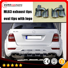 ML63 exhaust tips fit for MB M-class ML W164 to ML63 A-style W164 muffler tips with logo