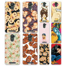 New Arrival Cartoon Grid & Expression Painted Case Cover For BQ U Plus Fundas Capa For BQ Aquaris U Plus Soft Silicon Phone Case