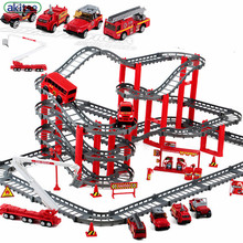 New Arrival 4 types Children's toys electric rail car scene alloy police track suits boy toy car train tracks kids education toy