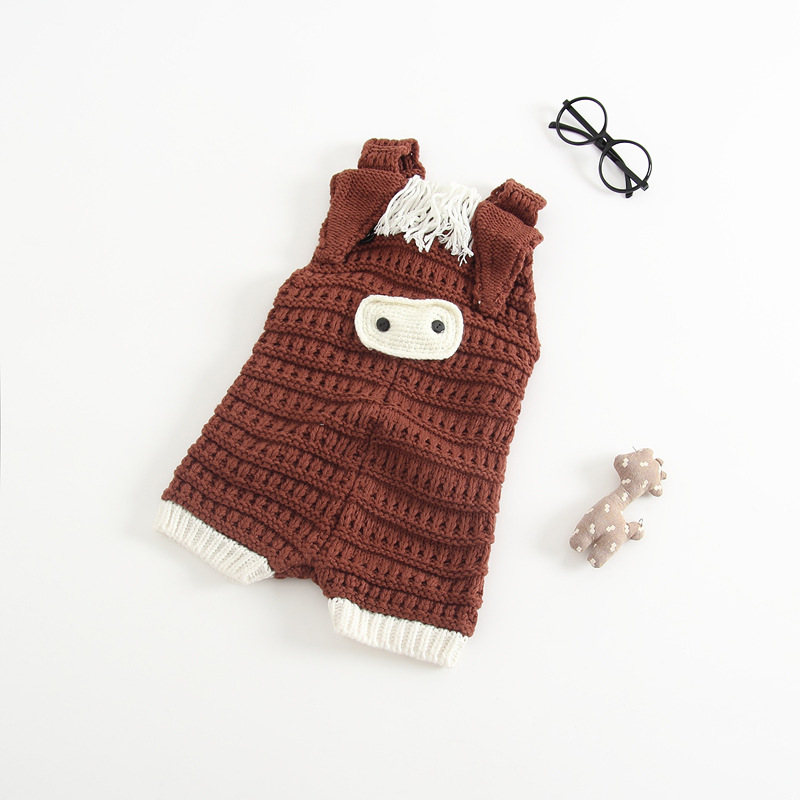 Newborn Baby Cotton Rompers Knitting Crochet Pig Costumes Overalls Clothes For Toddler Infant Boys Girls Jumpsuits Clothing (14)