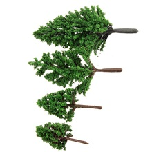 KiWarm 10Pcs Sale 1:100-300 Train Layout Model Trees Scale Garden Scenery Railroad Micro Landscape Model Trees 5cm 6cm 8cm 10cm