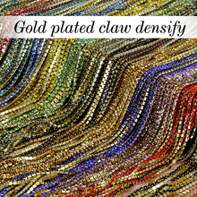16 kind color 3.6Meter/ roll Gilded base clear crystal SS6 (2mm) intensive Gilded base diy beauty accessories rhinestone chain(China)