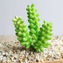 Green Fake Succulents Plants Aloe Artificial Succulent Plants Arrangements Stems Mini Flowers Ornaments Garden Decoration Cheap