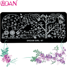 10pcs/lot BQAN Free Shipping Hot Sale Nail Stamping Plates 2016 DIY Nail Art Stamping Printing Machine(China)