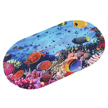 Cartoon Sea World Printed Bathroom Bathtub Mat Non-slip Bath Mats With Suction Cups