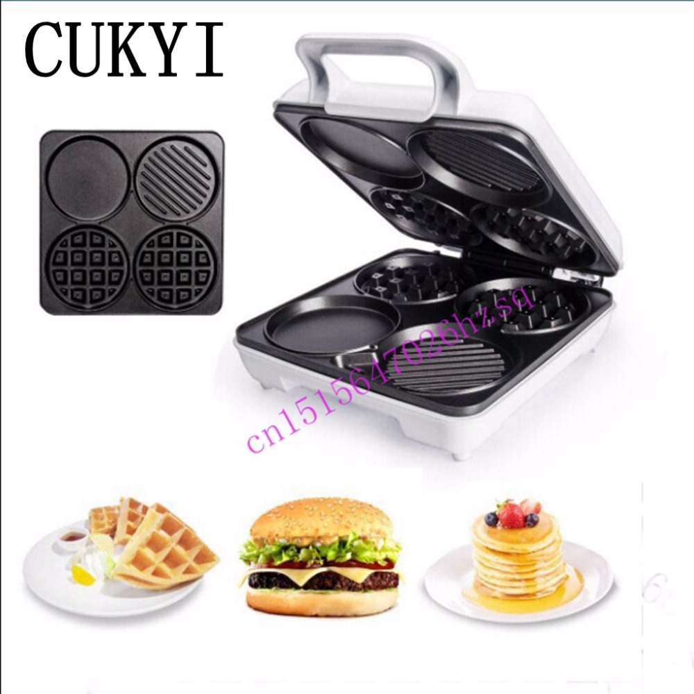 CUKYI Multifunctional waffle machine machine muffin toaster for breakfast cake cake stalls household electrical<br>