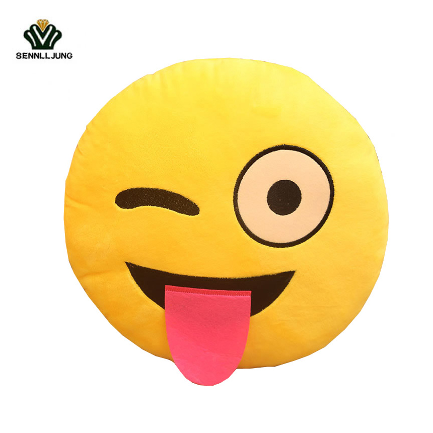 Image Best Sell Bedding Outlet Cute Emoji Cushion Home Smiley Face Pillow Stuffed Toy Soft Plush For Sofa Car Seat Bed Face Pillow