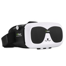 2016 New 3rd Generation Virtual Reality VR 3D Glasses With Top Quality Lens Cute Panda Shape VR glasses For smartphone VR magic(China)