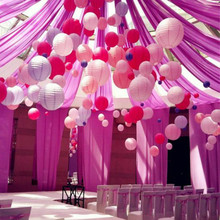 Free shipping 8''(20cm) Pink Chinese paper lanterns home and party decoration wedding decoration 28 colors wedding round lantern