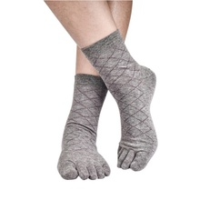 New Men Business Socks Health Bamboo Charcoal Cotton Socks Breathable Toe Socks Casual Men Socks(China)