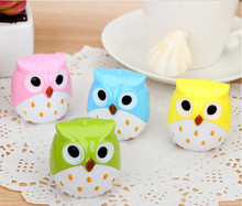 100PCS Kawaii Owl Pencil Sharpener Cutter Knife Promotional Gift Stationery(China)