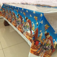 108cm Toy story Plastic Table Cover for Cartoon kids happy birthday party plastic tablecloth supplies disposable