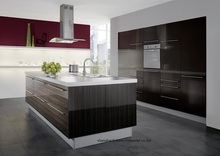 melamine/mfc kitchen cabinets(LH-ME062)(China)