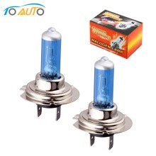 2pcs car lights cars h7 bulb 55w  6000k halogen white Fog Halogen Bulb Car Head Lamp Light 12V car styling D0020