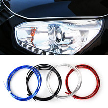 1M 2M 3M Auto Car-Styling DIY U Style Car Sticker Decoration Strip Grille Chrome Fit For Chevrolet Ford Mazda Volvo Lada Subaru