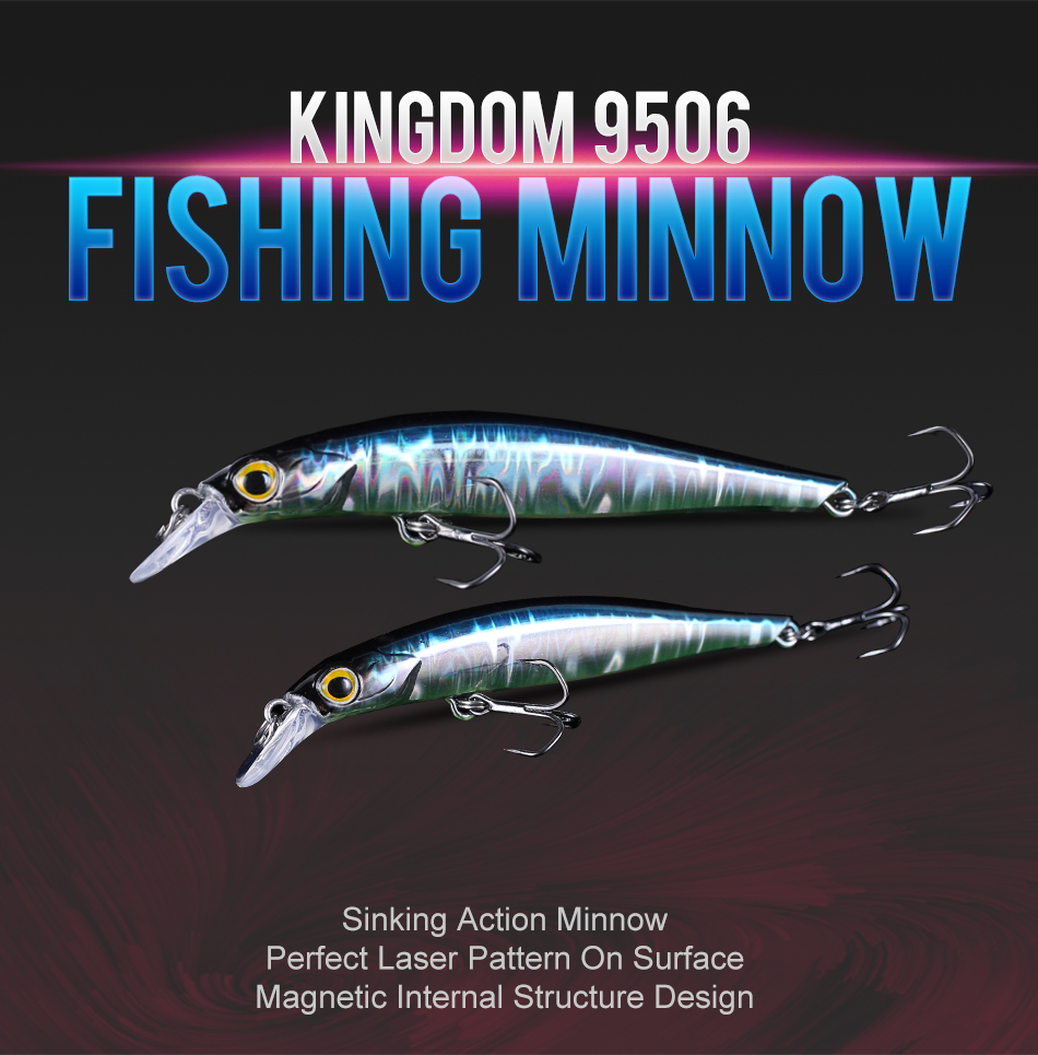 Kingdom Jackbaits Fishing lures 80mm 7.5g 105mm 16.5g Silence Sinking Minnow High Quality Hard Baits Good Action Wobblers (1)