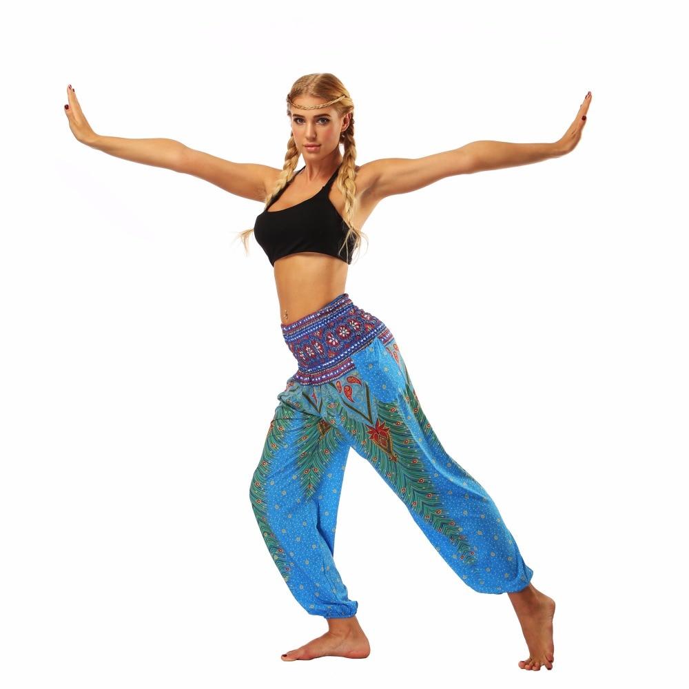 TL002- blue loose yoga pant legging (2)