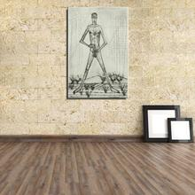 Standing naked Figure Painting Impressionist Bernard Buffet Frameless Unframed Spray Canvas Oil Painting Waterproof kitchen