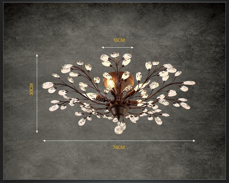 Plafoniere In Cristallo Miglior Prezzo : Acquista k plafoniere di cristallo retro lampada
