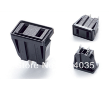 100 pcs/lot SS-6C Travel Adaptor/Plug Converter in Black *CE Marked C Power Socket Outlet AC 125V 15A(China)